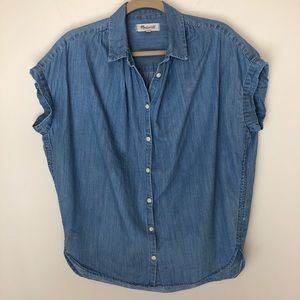 Madewell Central Shirt Button Up Top XS